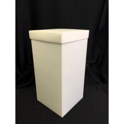 Scatola cartoncino fondo e coperchio avorio CM 10x10 H 21