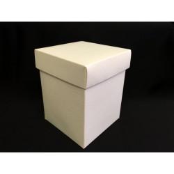 Scatola cartoncino fondo e coperchio avorio CM 9x9 H 15