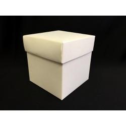 Scatola cartoncino fondo e coperchio avorio CM 9x9 H 9