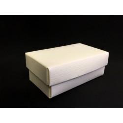 Scatola cartoncino fondo e coperchio avorio CM 7x4 H 3