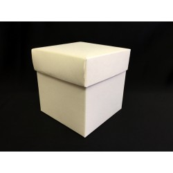Scatola cartoncino fondo e coperchio avorio CM 5x5 H 5