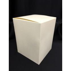 Scatola cartoncino astuccio avorio CM 17x17 H 22