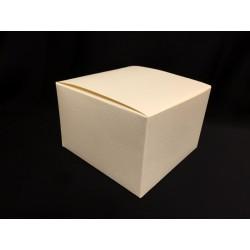 Scatola cartoncino astuccio avorio CM 10x10 H 7.5