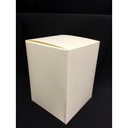 Scatola cartoncino astuccio avorio CM 8x8 H 15