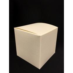 Scatola cartoncino astuccio avorio CM 6x6 H 6