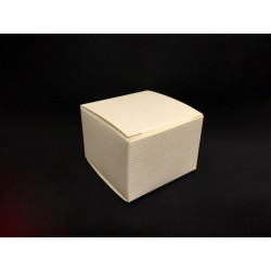 Scatola cartoncino astuccio avorio CM 5x5 H 3