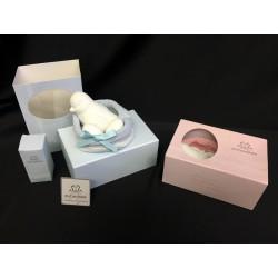 Gesso profumatore forma colomba, completo di scatola e profumo. Scat. 13x9 H 6