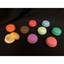 Macaron porta pillole in gomma. Ass 9. Diam. 5