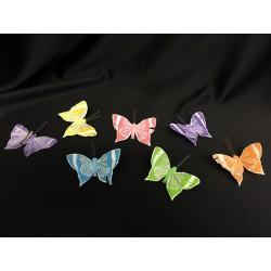 Farfalle in piuma con molletta. Ass 6. CM 8