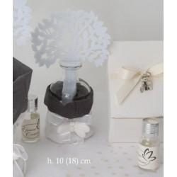 Profumatore bottiglietta vetro con sacco ed albero tessuto CM 18 con scatola