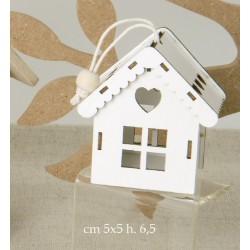 Casetta legno traforata. CM 5x5 H 6.5