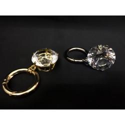 Portachiavi con diamante vetro Diam. 3. CM 7