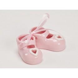 Coppia scarpine ceramica rosa CM 4