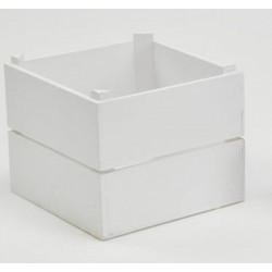 Cassetta legno bianca. CM 15x15 H 12