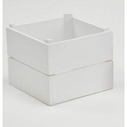 Cassetta legno bianca. CM 7x6 H 5