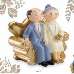 Sposi sopratorta per 50° anniversario. CM 15