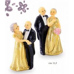 Sposi sopratorta per 50° anniversario. Ass. 2. CM 13.5