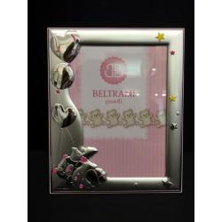 Portafoto argento con soggetti baby. CM 13x18