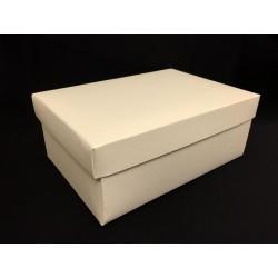 Scatola cartoncino fondo e coperchio avorio CM 20x14 H 8
