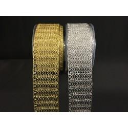 Nastro rete laminato oro o argento. MM 48 MT 20