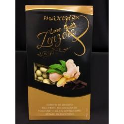 Cubetti di zenzero ricoperto di cioccolato fondente. KG 1
