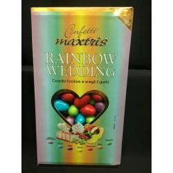 Confetti cioccomandorla, gusti assortiti nei colori arcobaleno. KG 1