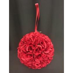 Sfera rose tessuto da appendere. Diam. 23