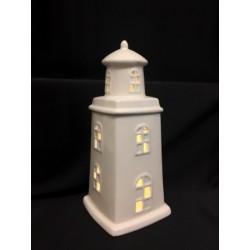 Faro ceramica con luce LED CM 9x9 H 20