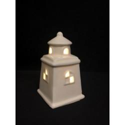 Faro ceramica con luce LED CM 5x5 H 8.5