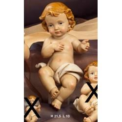 Gesù Bambino in resina H 21.5 L 10
