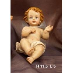 Gesù Bambino in resina H 12 L 5