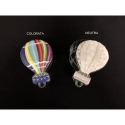 Scatola plexi forma mongolfiera. CM 7,5x5,5 H 3