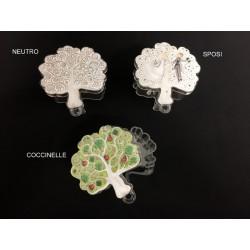Scatola plexi forma albero. CM 6,5x6,5 H 3 MADE IN ITALY