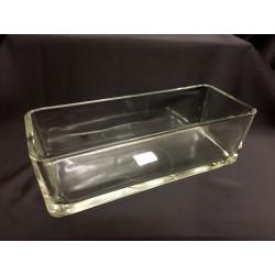 Vaso rettangolare vetro CM 29x11 H 9