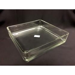 Vaso vetro quadrato CM 24x24 H 5.5