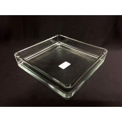 Vaso vetro quadrato CM 18.5x18.5 H 4
