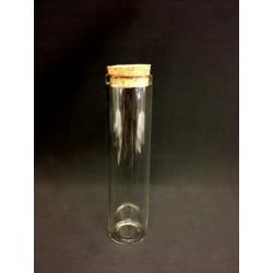 Provetta in vetro con tappo in sughero Diam. 2.5 H 10