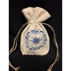 Sacchetto tessuto grezzo con stampa marinara. CM 12 H 13
