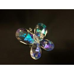 Farfalla cristallo boreale con applicazione strass. CM 5.5x5 H 3 MADE IN ITALY