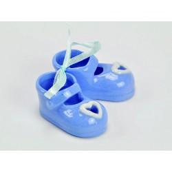 Coppia scarpine ceramica azzurre CM 4