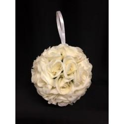 Sfera rose tessuto da appendere. Diam. 18