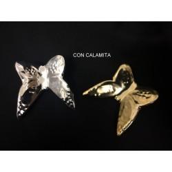 Farfalla ceramica oro o argento con calamita. CM 4.5x5