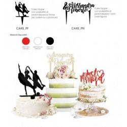 Cake topper in plexiglass personalizzabile in forme e nomi. CM 23x23 massimo