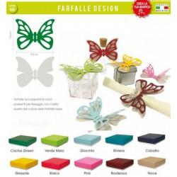 Set 12 farfalle doppie bicolor traforate con passante per nastro. CM 7.5x9.5