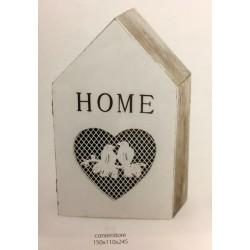 Scatola legno forma casa. CM 24x10 H 24