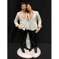 Cake topper coppia nozze gay. H 19