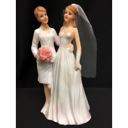 Cake topper coppia nozze gay. H 17