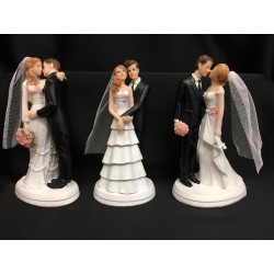 Cake topper coppia sposi resina. Ass 3. H 18