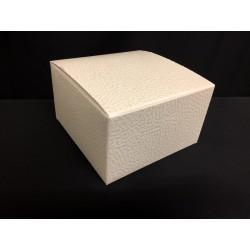 Scatola cartoncino astuccio avorio (decoro tipo pelle) CM 10x10 H 6