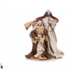 Natività con vesti tessuto. H 30.5
